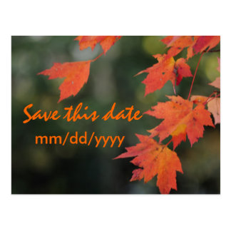 Save the date for Fall Postcard