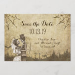 🎃  Save the Date for Halloween Wedding with Skeletons