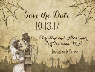 Save The Date Halloween Wedding Hallowen Costum Udaf