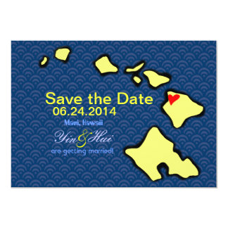 Save the Date for Maui Wedding 5x7 Paper Invitation Card