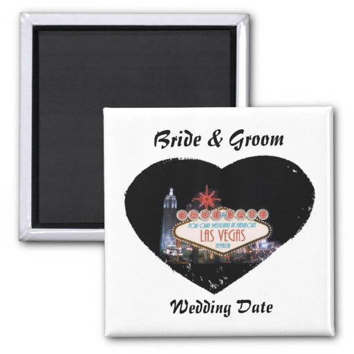 Save the Date For Our Wedding In Fabulous Las Vega 2 Inch Square Magnet