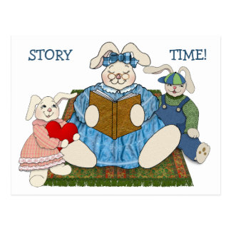 Save the Date for Story Time at the Library Postcard