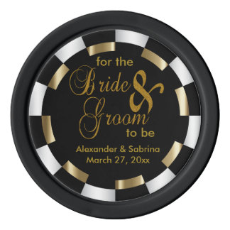 Save the Date for the Bride and Groom Set Of Poker Chips