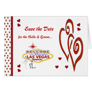 Save the Date for the Bride & Groom Las Vegas Wedd Card