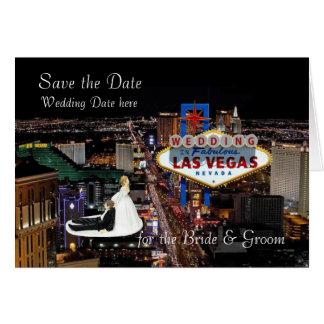 Save the Date for the Bride & Groom Wedding In Las Card