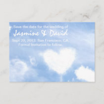 Save the Date for the Wedding - Heart Shaped Cloud