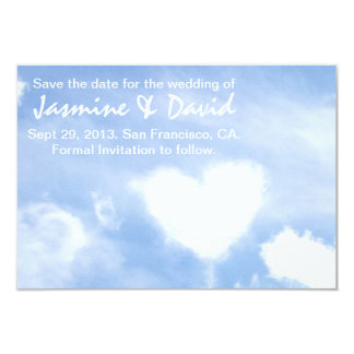 Save the Date for the Wedding - Heart Shaped Cloud Card