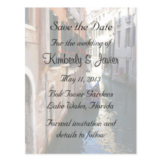 Save The Date for Venetian Theme Postcard