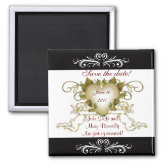 Save the date for wedding Magnet Angels black