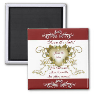 Save the date for wedding Magnet Angels red