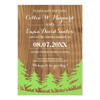 Save the Date Forest Wedding Cards