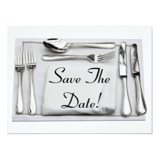 Save The Date Formal Dinner Invitation