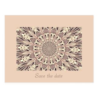 Save the date - Fractal / Mandala Postcard