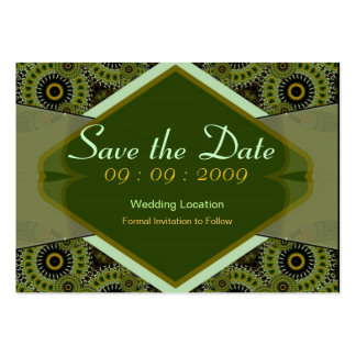 Save the Date Fractal Swirls Card Business Cards