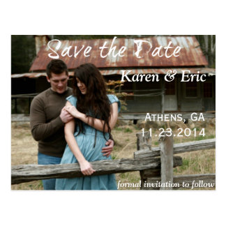 SAVE THE DATE FRENCH COUNTRY ROMANTIC POSTCARD
