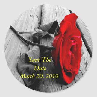 SAVE THE DATE  fridge magnet Classic Round Sticker