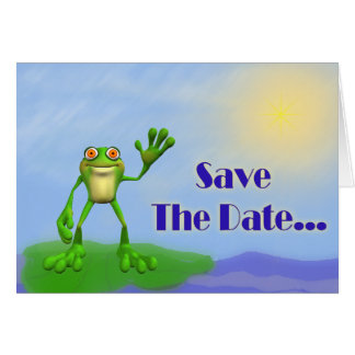 Save The Date-Frog Card