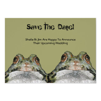 Save The Date: Frog Couple: Hoppy To Announce ... Card