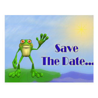 Save The Date-Frog Postcard