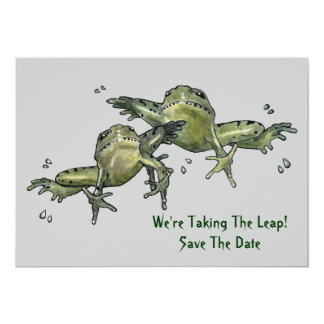 Save The Date: Frogs: Taking The Leap Custom Invites