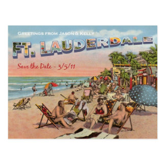 Save the Date - Ft. Lauderdale Post Card