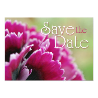 Save the Date fuchsia flower photography flat card