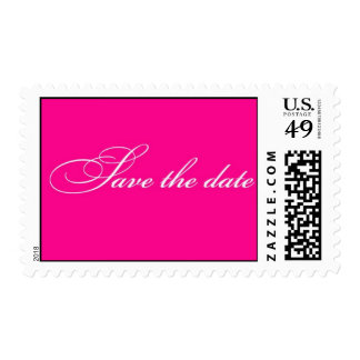 Save the Date - Fuchsia Postage Stamps