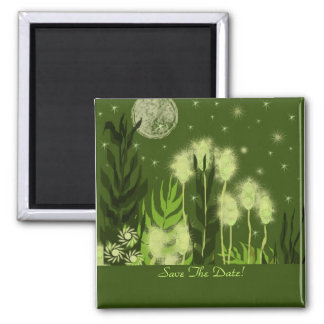 Save The Date  Full Moon Fantasy 2 Inch Square Magnet