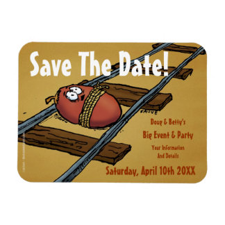 Save the Date Funny Announcement Rectangular Photo Magnet