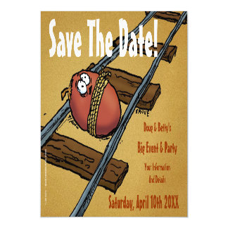 Save the Date Funny Announcement Magnetic Invitations