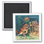 Save the Date Funny Cats Wedding Magnets