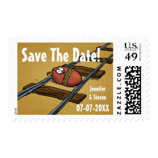 Save The Date Funny Wedding Postage