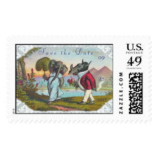 Save the Date Funny Wedding Postage Stamp