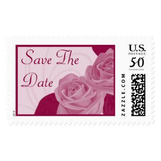 Save The Date Fushcia Wedding Postage