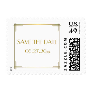 Save The Date Gatsby Art Deco Wedding Stamps