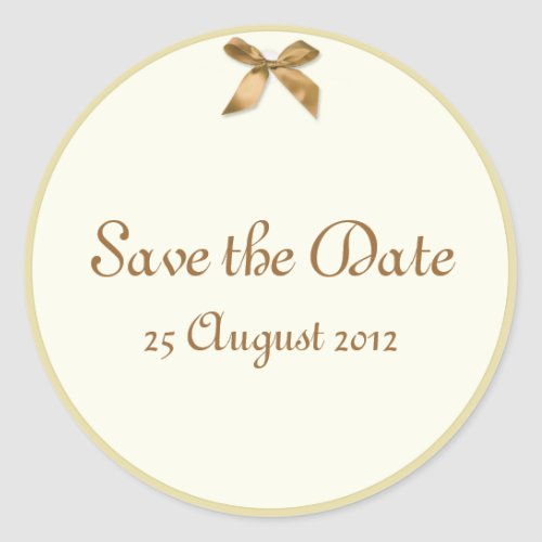 Save the Date Gift Tag style Stickers sticker