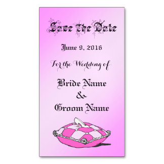 Save the Date Glass Slipper Custom Magnetic Card