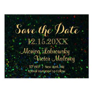 Save the Date | Glitter Night Postcard