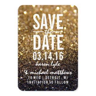Save the Date | Gold Lit Nite Fab Card