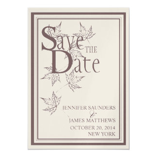 Save the Date Gold Wedding Announcement