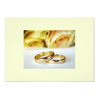 Save the date/gold wedding b ands card