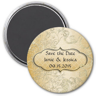 Save the Date Gold Wedding Save The Date Magnet