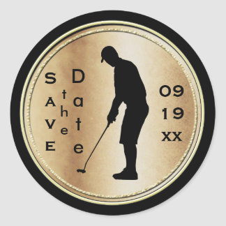 Save the Date Golf Sticker