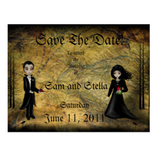 Save the Date Goth Postcard