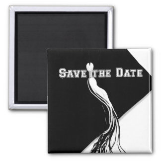 Save the Date Graduation Square Magnet