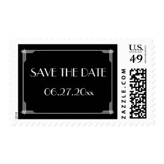 Save The Date Great Gatsby Art Deco Wedding Stamps