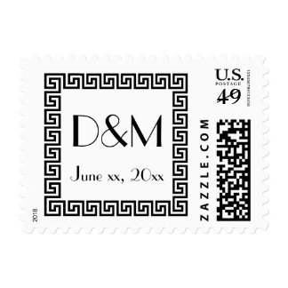 Save the Date, Greek Key Design Stamps