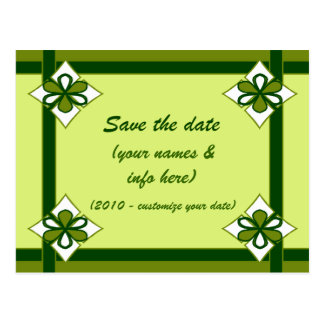 SAVE THE DATE (greens) Postcard