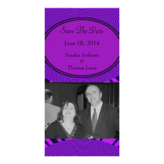 Save the Date Groovy Purple Abstract Card
