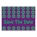 Save the Date groovy retro Card